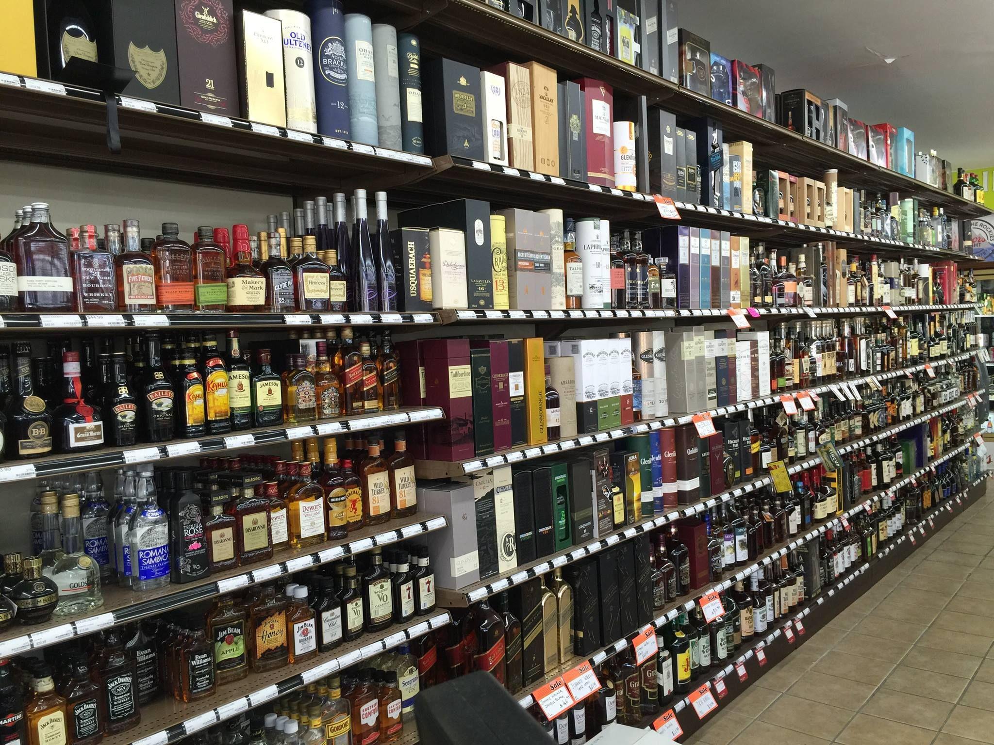 Wall Unit Liquor Store Shelving   Liquor Store Fixtures in