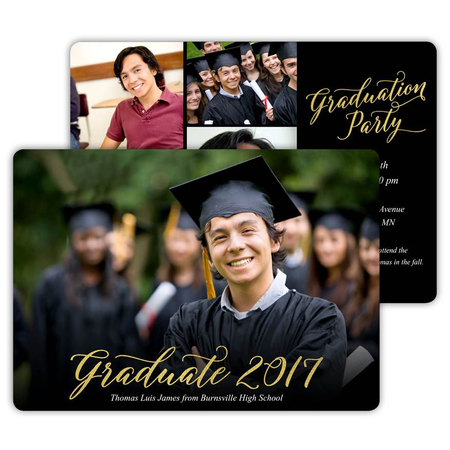 golden graduate create your own graduation invitations and
