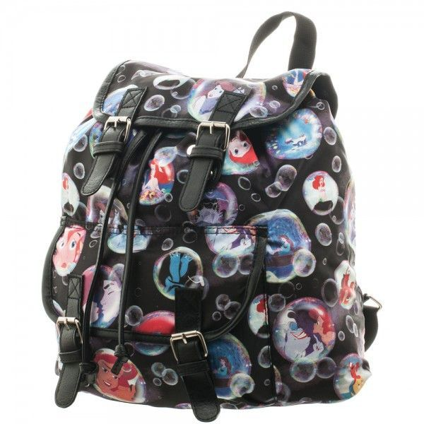 7a7d08ae12 Disney s The Little Mermaid Movie ARIEL Character Sublimated Print KNAPSACK