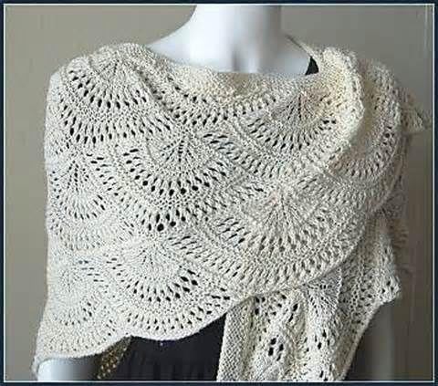 Offset Shell Crocheted Prayer Shawl Pattern | Crochet | Pinterest ...
