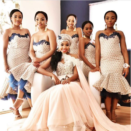 Top South African Shweshwe Dresses For Women 2019 African Bridesmaid Dresses African Wedding Attire African Traditional Wedding Dress