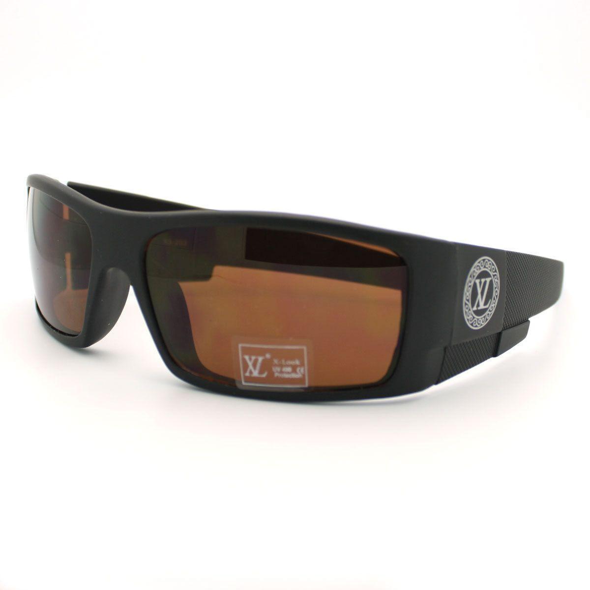 788d047789d1 Men s Rectangular Sunglasses Designer Fashion Thick Large Wrap Frame Shades