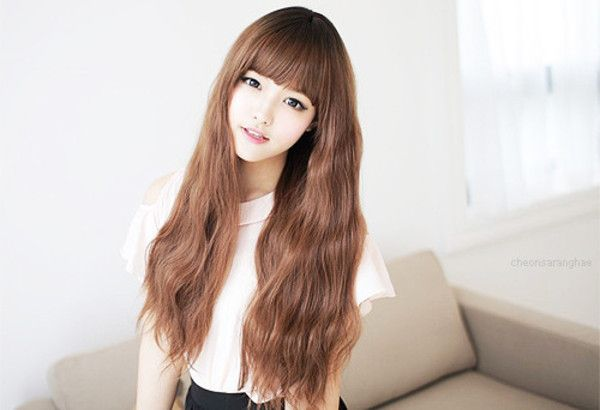 Ulzzang Ulzzang Girl Ulzzang Inspiration Cute Girl Cute Asian Hair Ulzzang Hair Style Hair Styles Asian Long Hair Korean Hairstyle