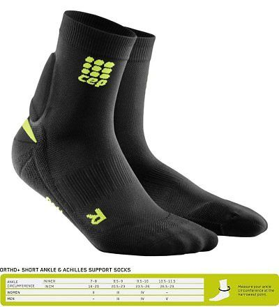2332e3b816 Compression and Base Layers 179825: Cep Ortho+ Achilles Support Short  Socks, Black Green,