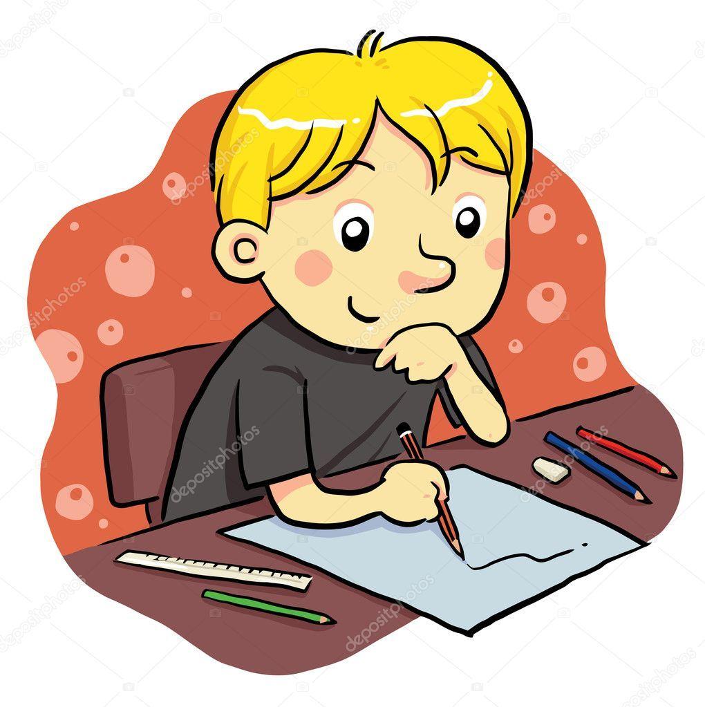 Resultado De Imagen Para Niño Estudiando Dibujo Dibujo Study