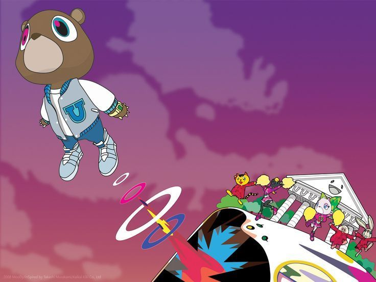 Kanye West Desktop Backgrounds Heartless Google Search Kanye West Bear Graduation Album Kanye West Album Cover