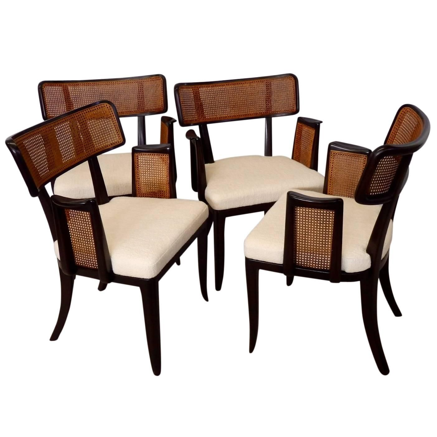 Four Edward Wormley For Dunbar Dining Chairs For Sale At