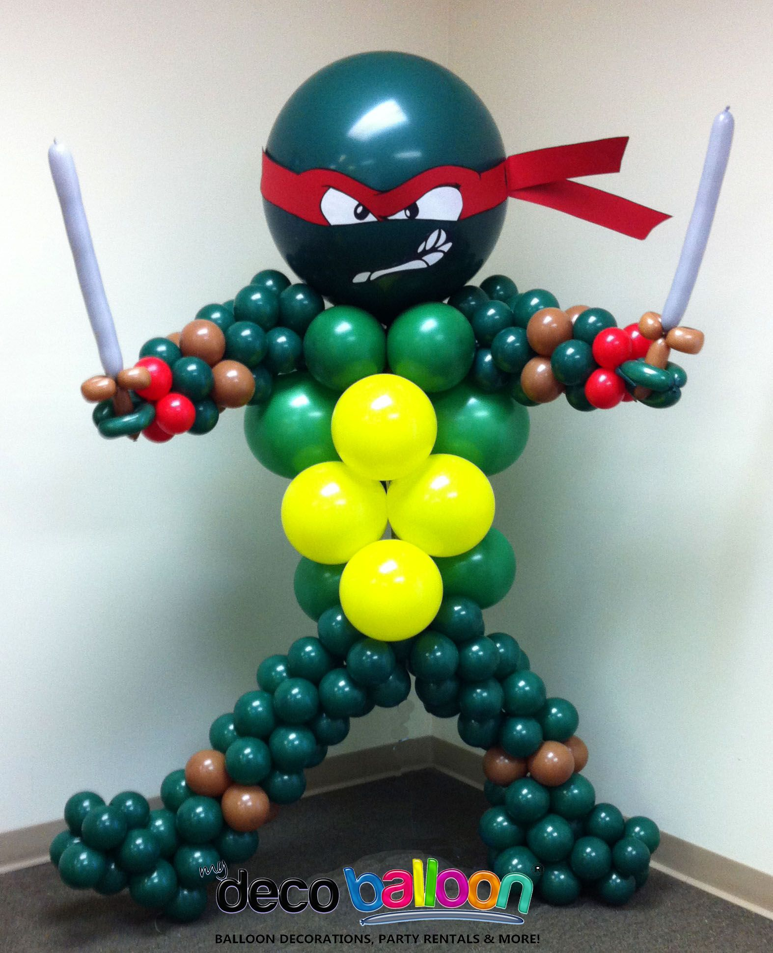 Ninja Turtle Balloon Sculpture Party From My Deco Balloon