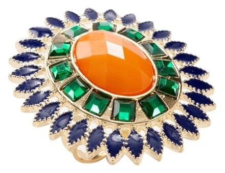 Leslie Danzis Orange Floret Adjustable Ring - 51% Off Retail