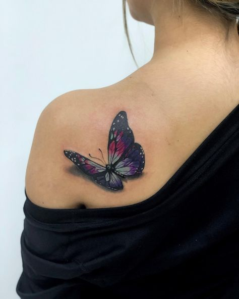 3d Butterfly Tattoos Popsugar Beauty Tatuaze Tatuaże