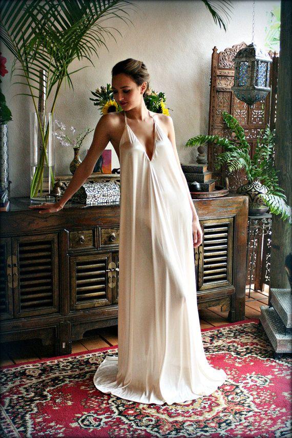 80b323502e10 Bridal Satin Backless Nightgown Wedding Lingerie Bridal Lingerie Wedding  Nightgown Honeymoon Sleepwe