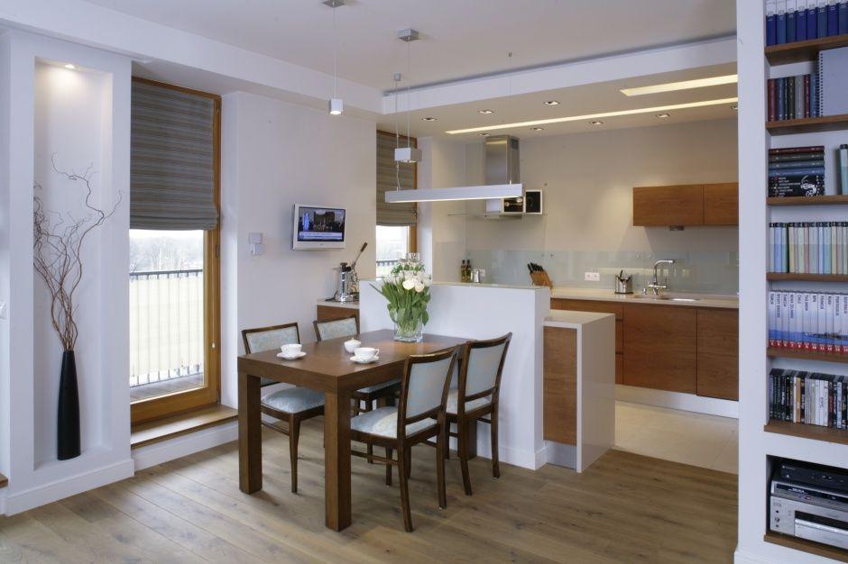 Kuchnia otwarta na salon to rozwiązanie bardzo na czasie Brak ściany działow   -> Aranzacja Kuchni Otwarta Na Salon