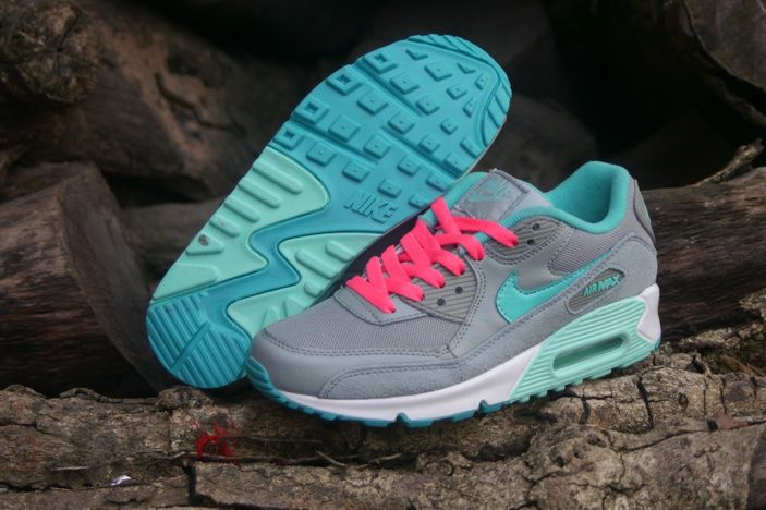 half off 5ddde 18258 Nike Air Max 90 Womens Shoes 2015 New Releases Gray Pink Light Blue 0