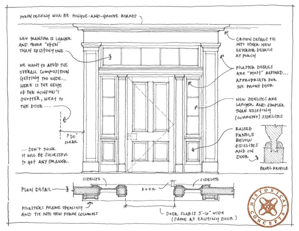 Front Door Drawing pilaster details on front door | project ii | pinterest | front