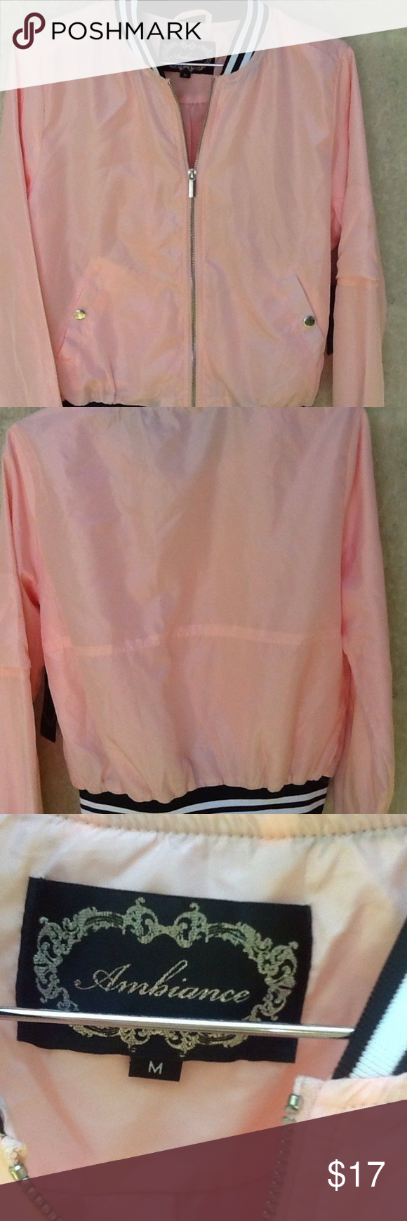 Ambiance Light Pink Bomber Jacket Size M Ambiance Light Pink Bomber Jacket Size M Nwt 100 Polyester Measur Light Pink Bomber Jacket Pink Bomber Jacket Jackets [ 1740 x 580 Pixel ]