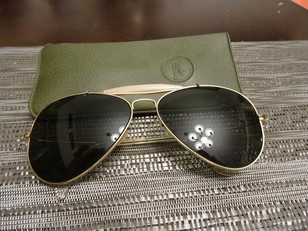 0df809a9cb Ray-Ban Vintage Sunglasses B L Aviator Gold Frame 1 30 10k GO  fashion   clothing  shoes  accessories  vintage  vintageaccessories (ebay link)