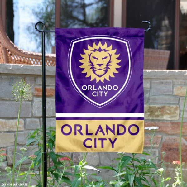 Orlando City Soccer Club Garden Flag Is 12 5x18 Inches In Size Is Made Of 2 Ply Polyester And Has T Orlando City Soccer Club Orlando City Orlando City Soccer
