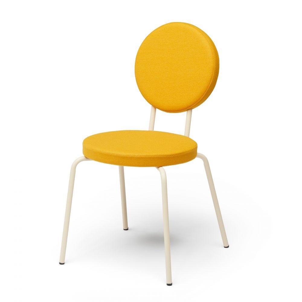 Bring Designer Style To Your Domain With Option Coloured Dining Chairs A Difference Inspired By Primary Forms And Painted In Colors