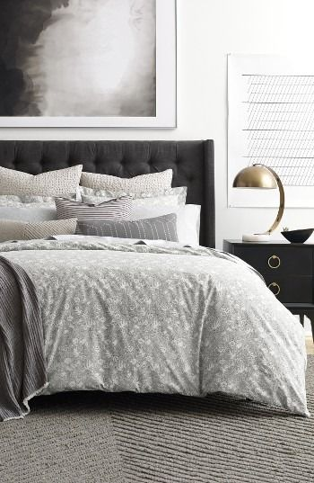 Loving this modern and sophisticated bedroom look.