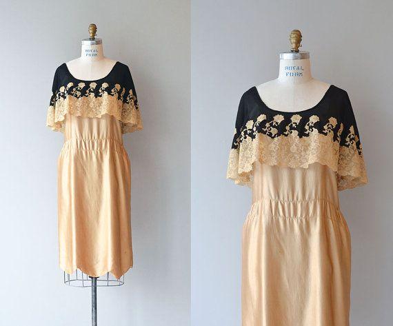 Robe fleur doreur robe en soie ann es 1920 robe vintage des ann es 20 time for wedding - Robe vintage annee 20 ...