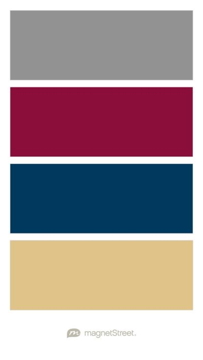 Classic Gray Burgundy Navy And Gold Wedding Color