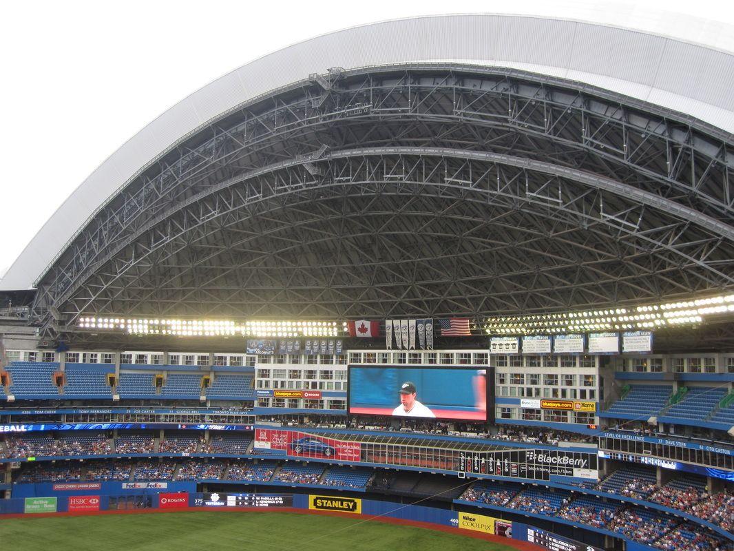 Toronto Blue Jays The Skydome Toronto Canada Baseball Park Rogers Centre Ballparks