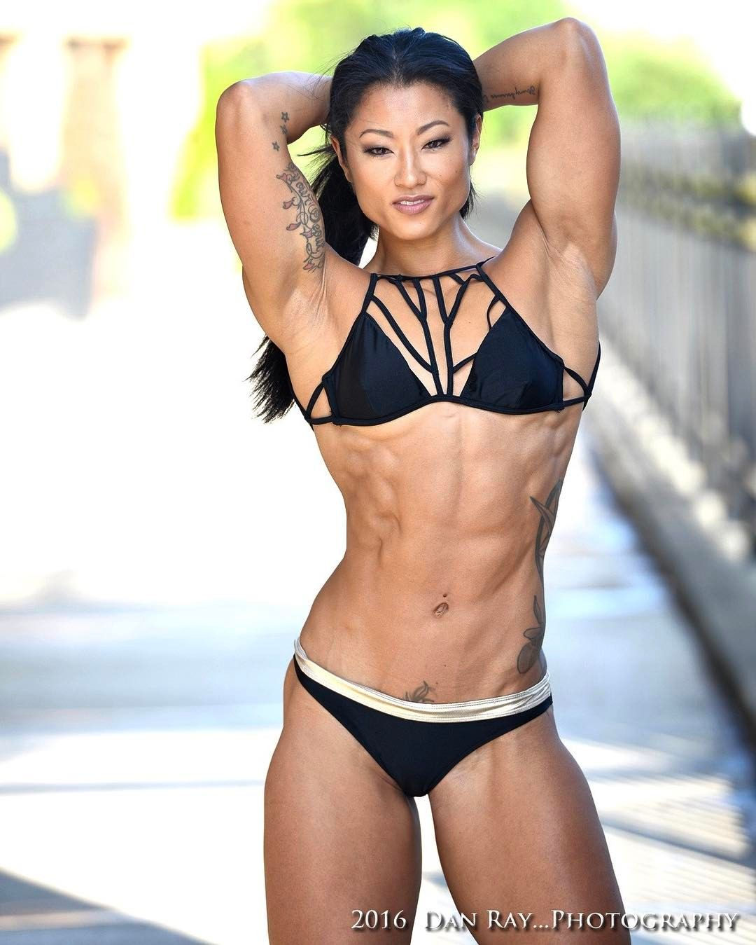 Sexy muscle women in bikinis