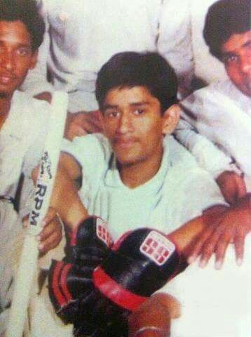 A photograph of young # MS Dhoni from his old days. #captaincool ...