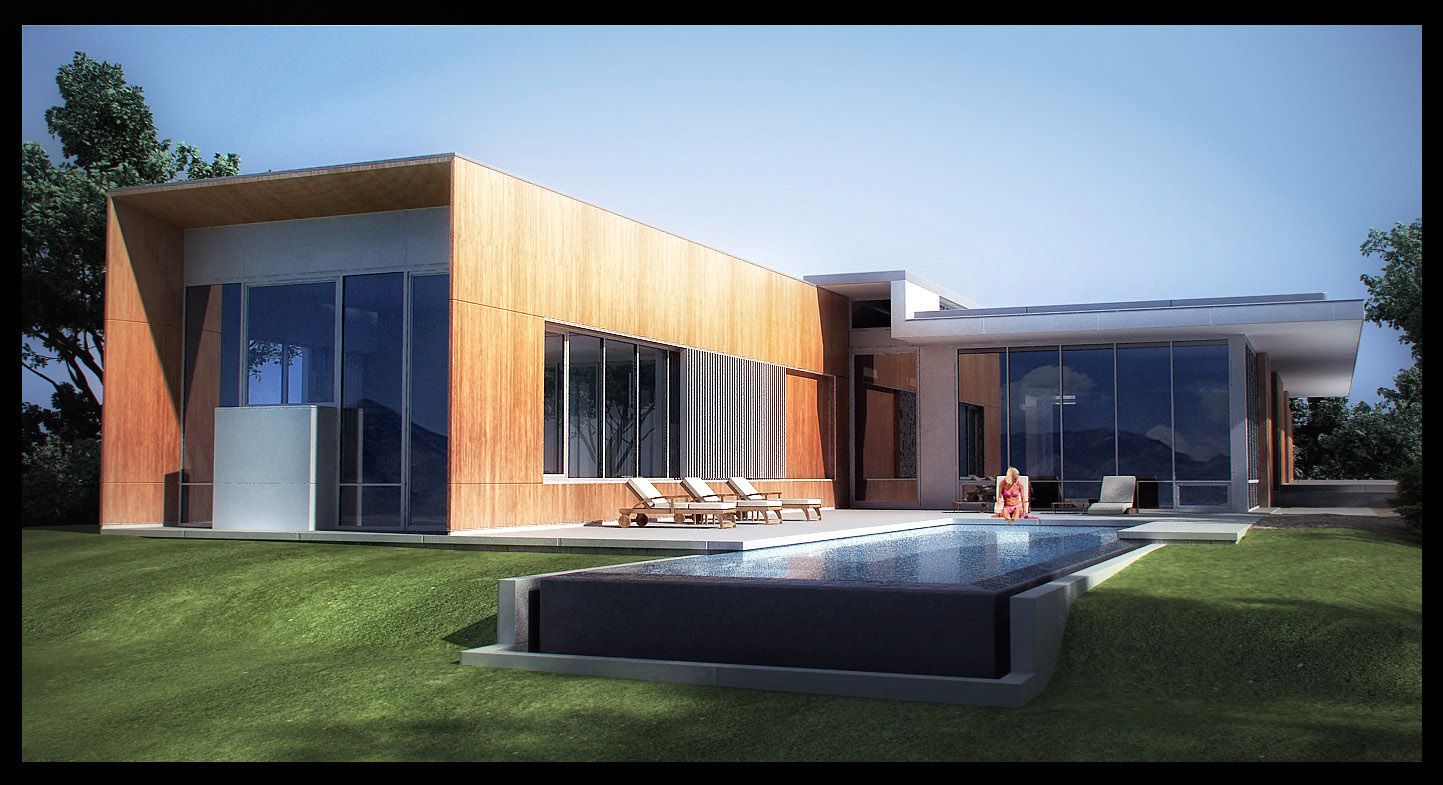 Architectural Render Brosmith Residence Exterior