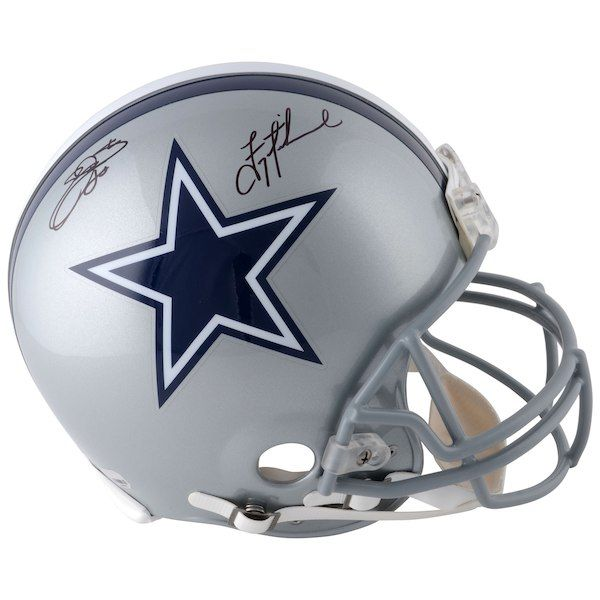 Emmitt Smith Troy Aikman Dallas Cowboys Fanatics Authentic Autographed  Riddell Pro-Line Helmet  DallasCowboys 2e1ea9eaf