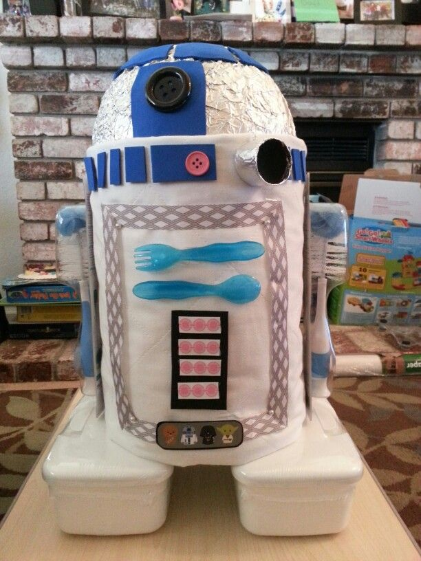 R2d2 diaper cake | Baby Shower Planning in 2019 | Baby ...