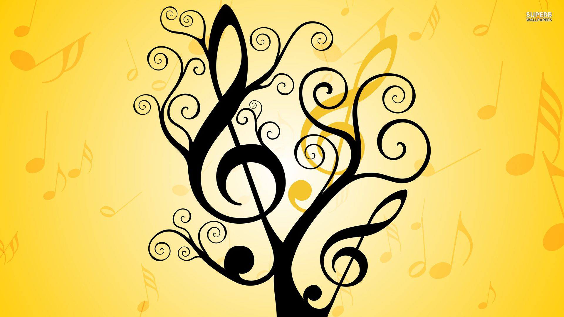 pictures of music notes | Musical notes wallpaper 1920x1080 ...