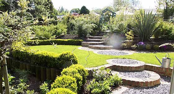 gardens circles and backyards on pinterest - Garden Landscaping Design