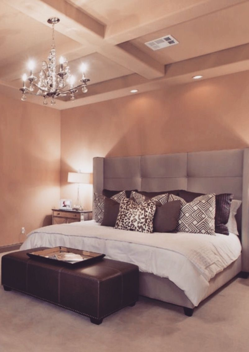 Master bedroom king bed Pin by Jenna Farris on Homey  Pinterest  Bedrooms Future and