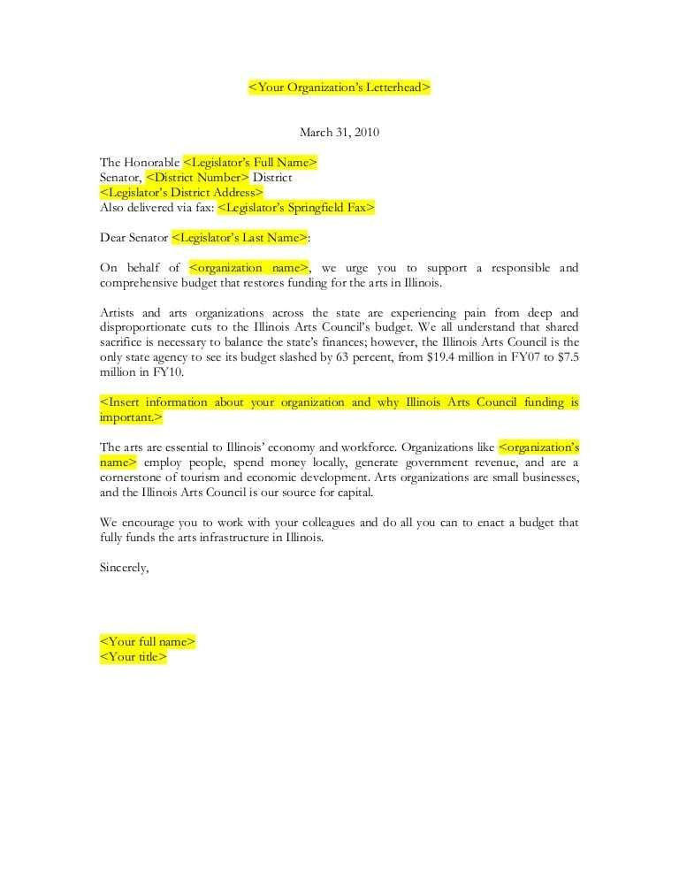 5 Letter To Senator Templates Word Excel Templates Excel