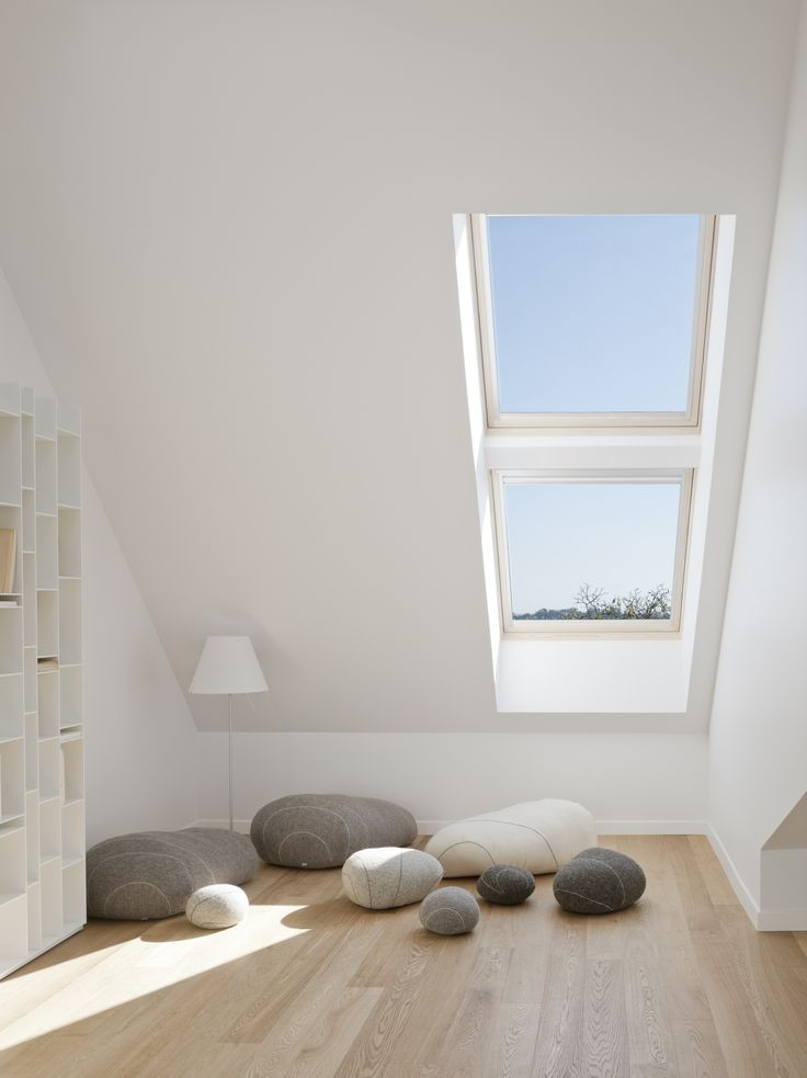 Bright Reading Corner With Roof Windows And Increased Natural Light The Benefits Of Daylight Boost Moral With Natural Light Roof Window Velux House Interior