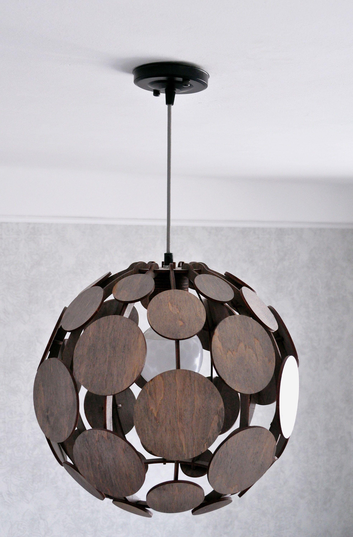 Wood Pendant Lamp Shade Living Room Hanging Lamp Modern