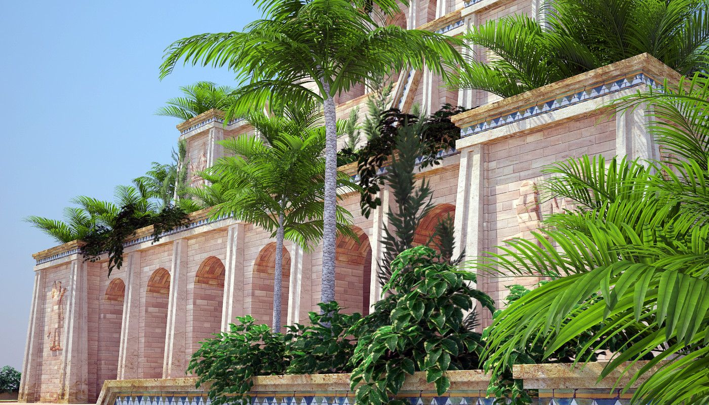 Ancient Hanging Gardens Babylon 3d Max Gardens Of Babylon Hanging Garden Babylon
