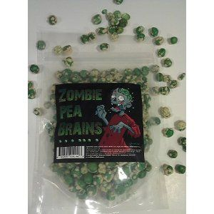 Zombie Pea Brains Snack Candy Theme Gamer Wasabi Peas Food