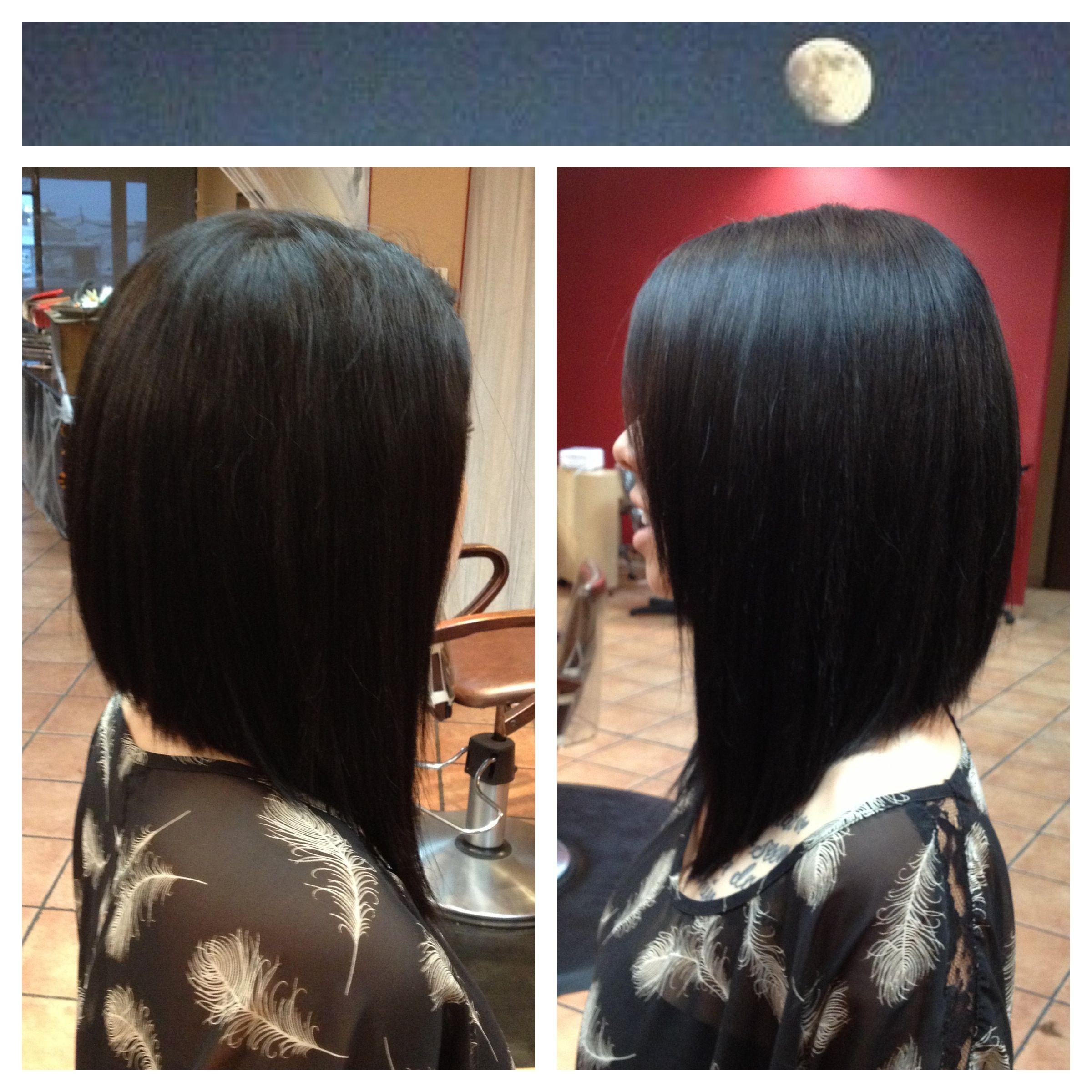 Dramatic Angled Bob Hair Inspiration Pinterest Hair Hair