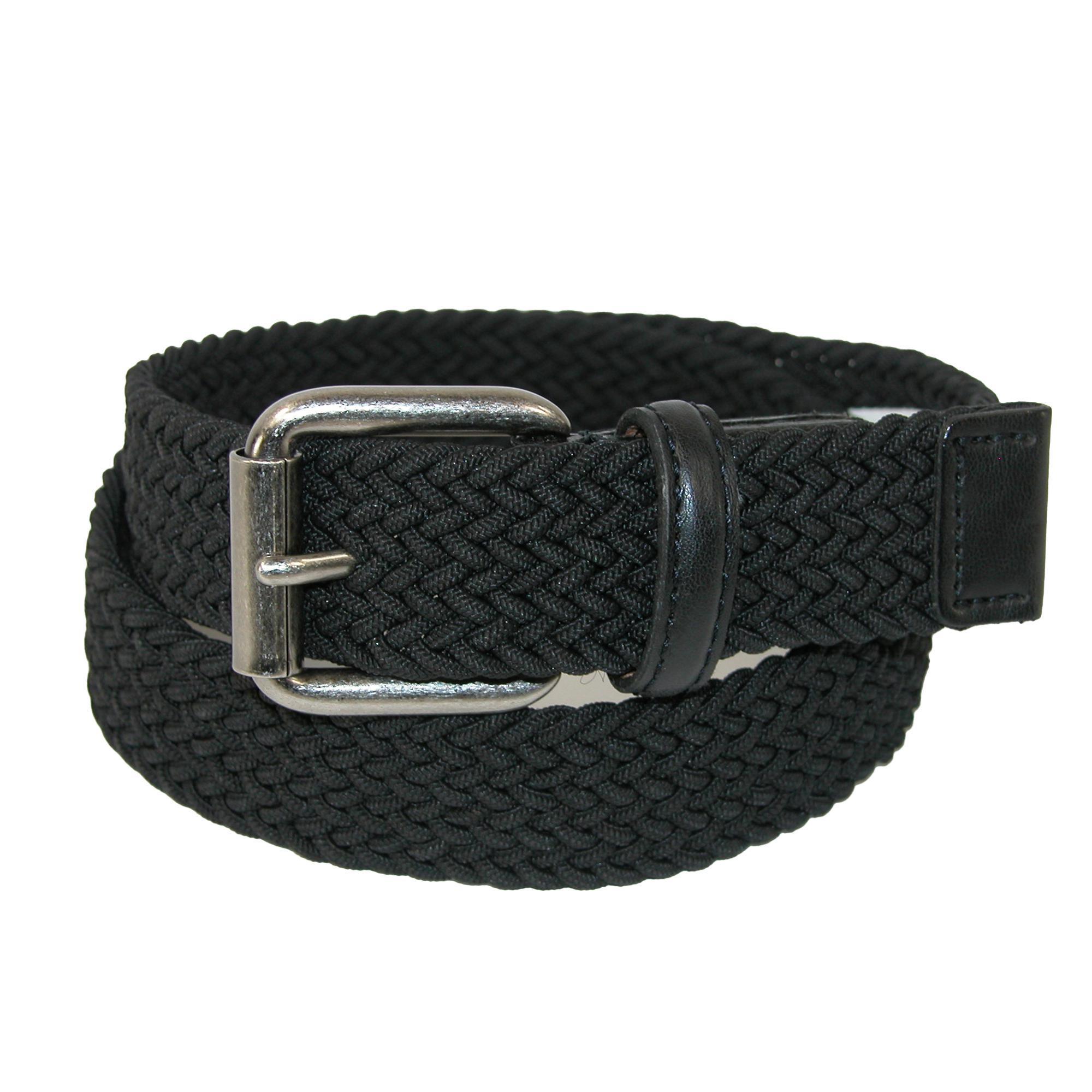 Aquarius Boys Braided Belt with Single Prong Buckle