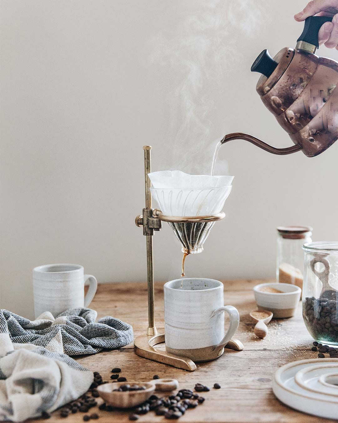 Brass Pour Over Stand