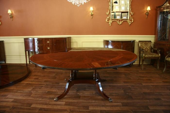 Perimeter Table Round Dining Table W Perimeter Leaves