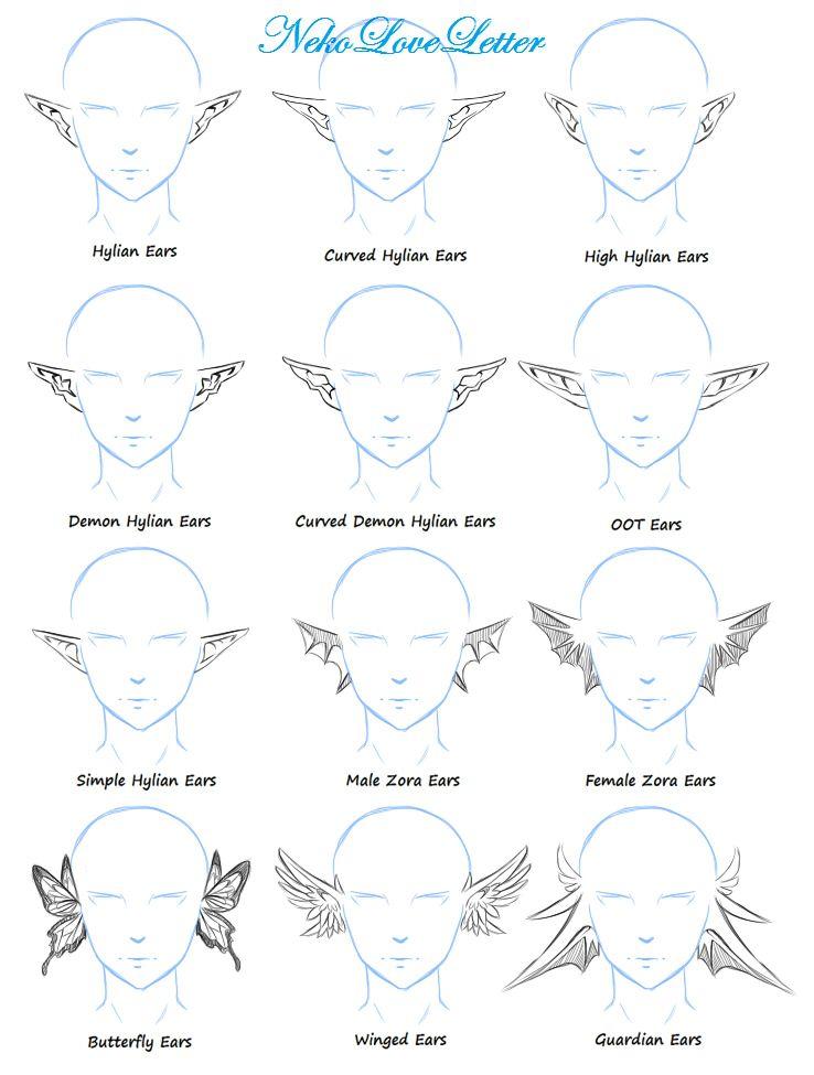 Ears Practice Elf Drawings Ear Art Art Sketches