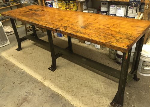 Farmhouse Wood Table Top Butcher Block Workbench Top Or Kitchen