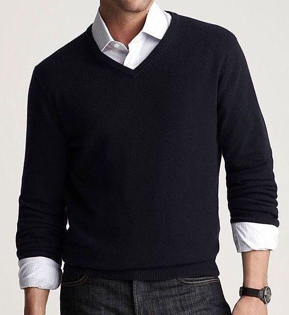 TSE Cashmere V Neck Sweater Size XL Solid Black Long Sleeve NWOT    eBay