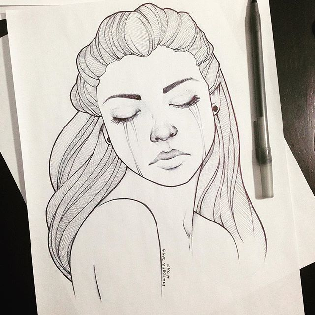 Image Result For Sad Drawings Little Drawings Arte Bocetos Dibujos