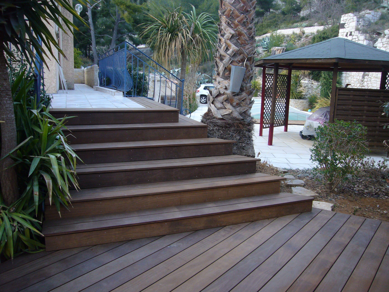 terrasse und treppe aus kebony holz schier unverw stlich 30 jahre garantie anschauen und. Black Bedroom Furniture Sets. Home Design Ideas