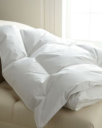 Down Comforters at Horchow. White fluffy comforter like sleeping on a cloud, won't clash with bright colors in room. #Horchow