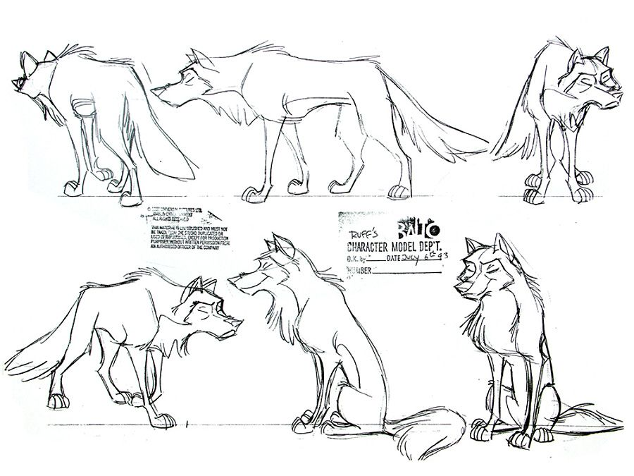 Living Lines Library: Balto (1995) - Characters, Model Sheets ...